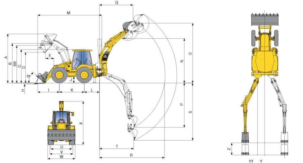 технические характеристики экскаватора-погрузчика