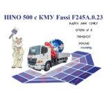 Грузоподъемность Манипулятора HINO 500 с КМУ Fassi F245A.0.23