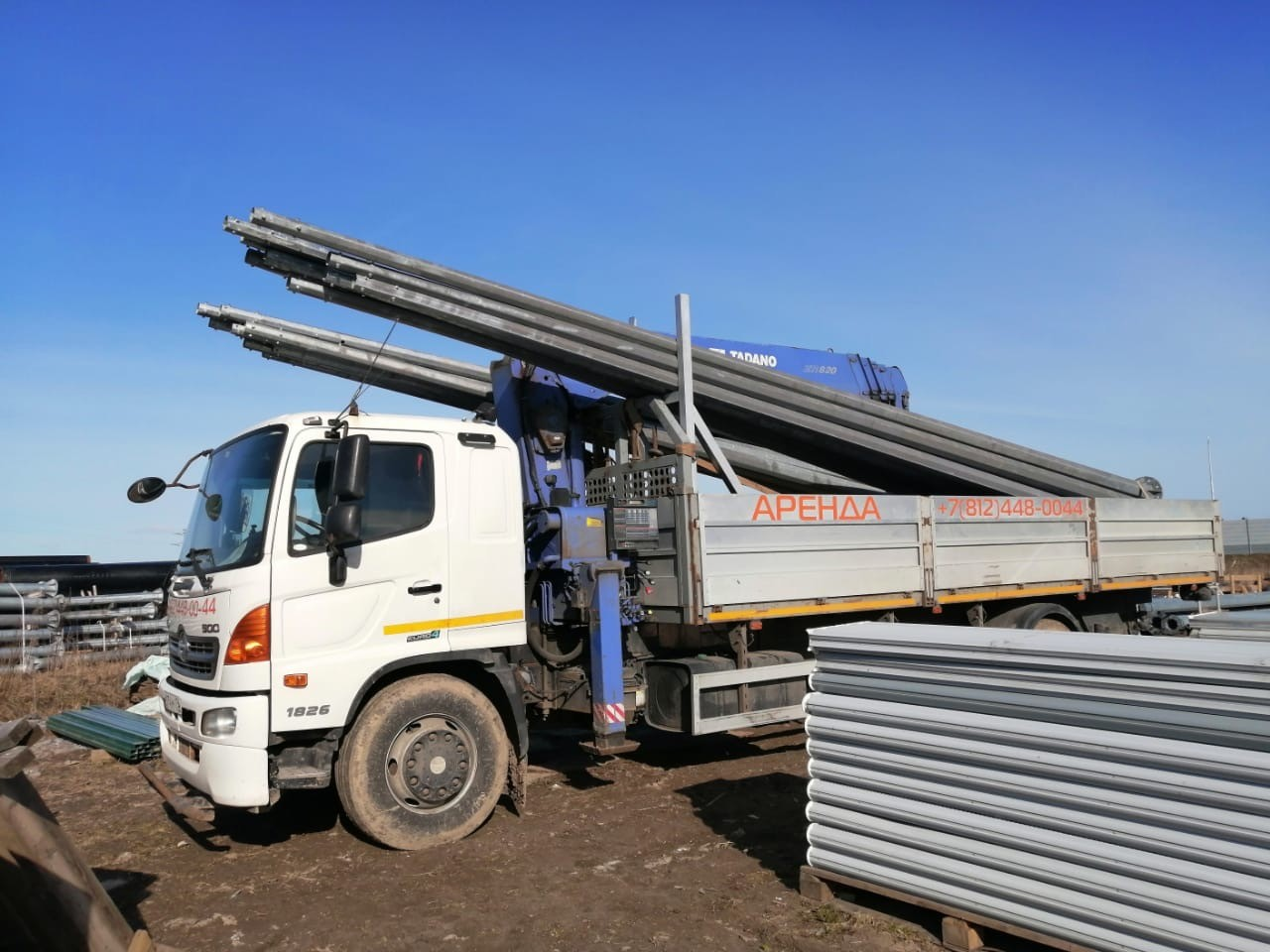Перевозка и монтаж опор освещения длинной до 11 метров Эп 752