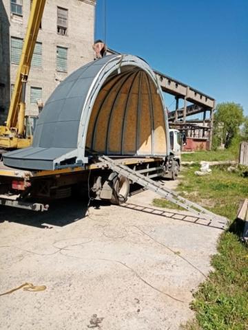 Перевозка купола храма на ул. Бурцева