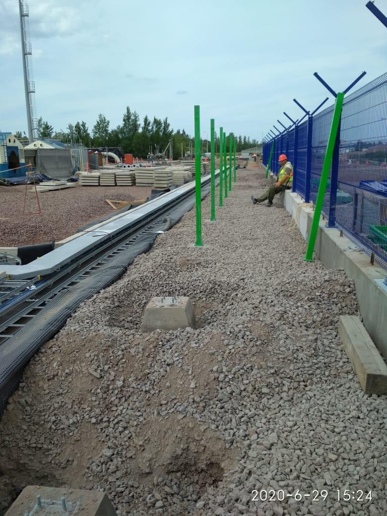 Монтаж ограждений на газовой станции Северный поток Кингисепп
