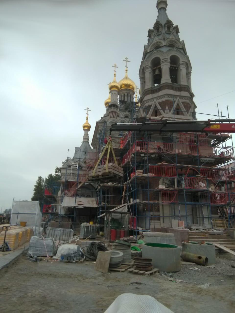 Обуховской обороны 24, Церковь иконы Божией Матери «Всех Скорбящих Радости» (Скорбященская церковь) ремонт и реставрация.