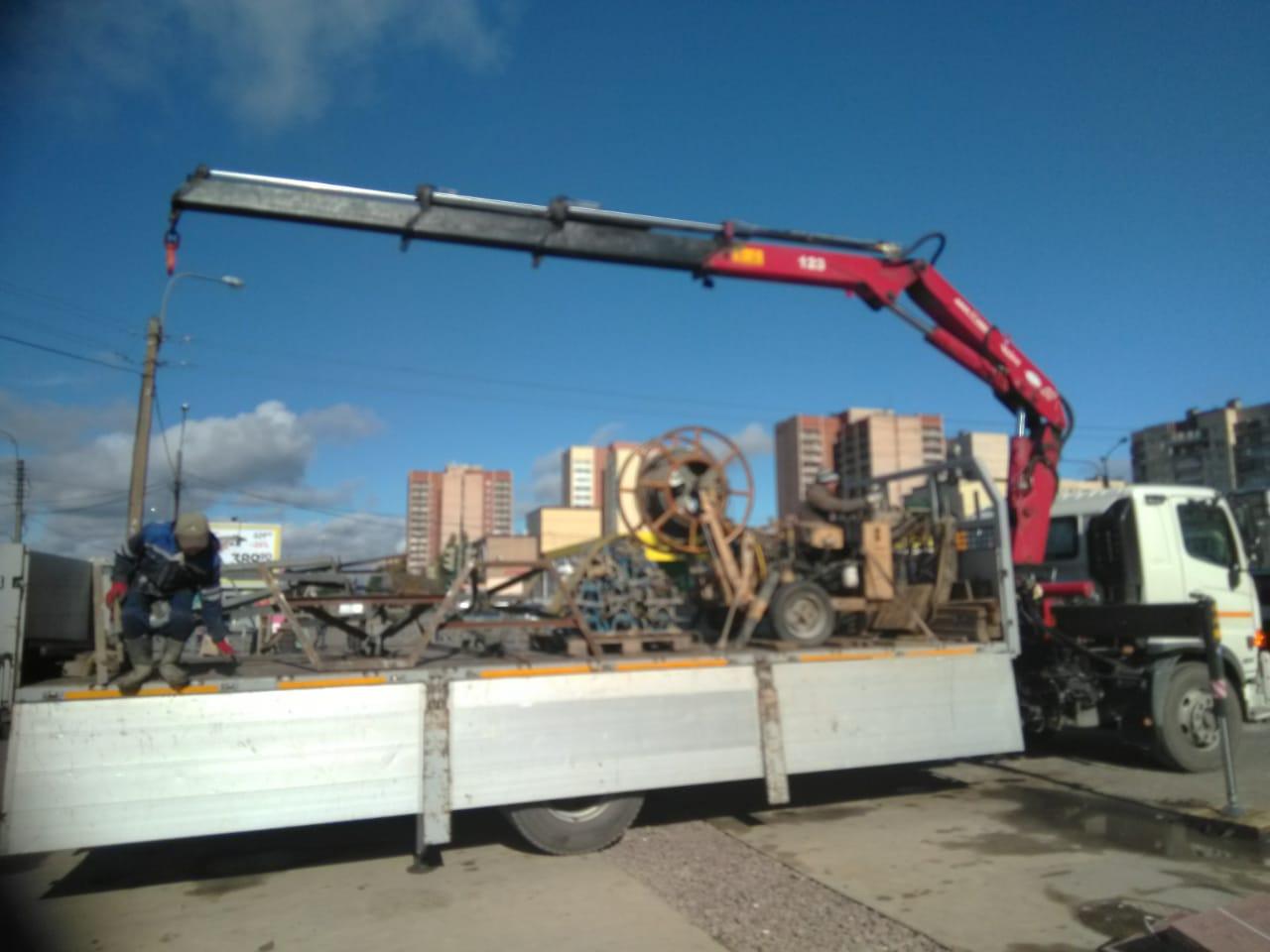 Транспортировка сложных грузов манипулятором