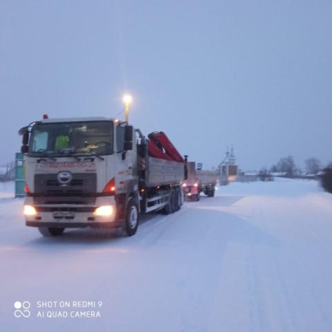 перевозка гранита автотранспортом из Карелии