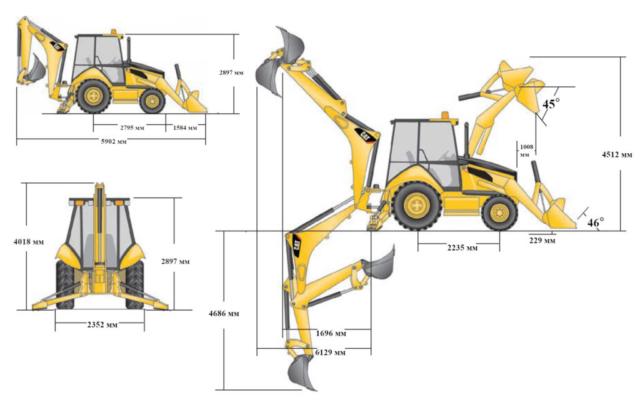 Экскаватор-погрузчик Caterpillar 444F2